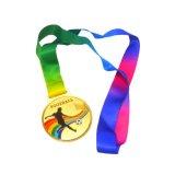 サッカー柄のカラフル金メダル