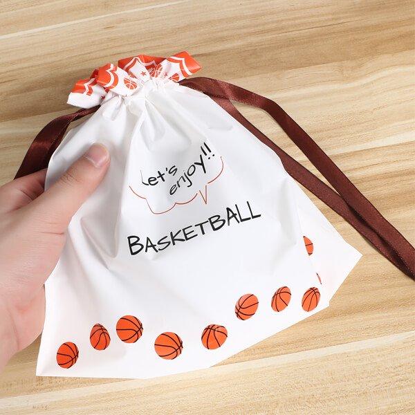 プレゼント用オリジナルラッピング袋 バスケットボール柄【画像3】