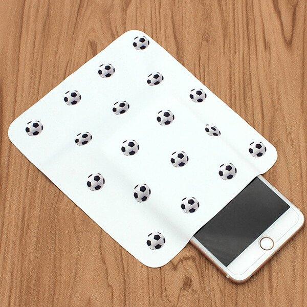 サッカーボールがたくさん マイクロファイバークロス(液晶クリーナー)1枚【画像6】