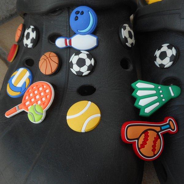スポーツサンダルアクセサリー ボウリングボールとピンタイプ 1個【画像2】