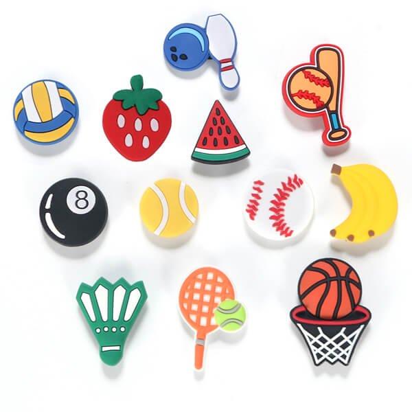 スポーツサンダルアクセサリー ボウリングボールとピンタイプ 1個【画像3】