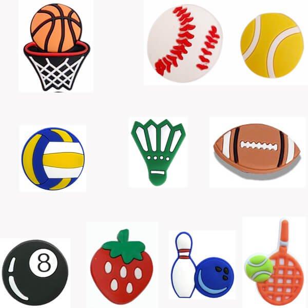 スポーツサンダルアクセサリー ボウリングボールとピンタイプ 1個【画像4】