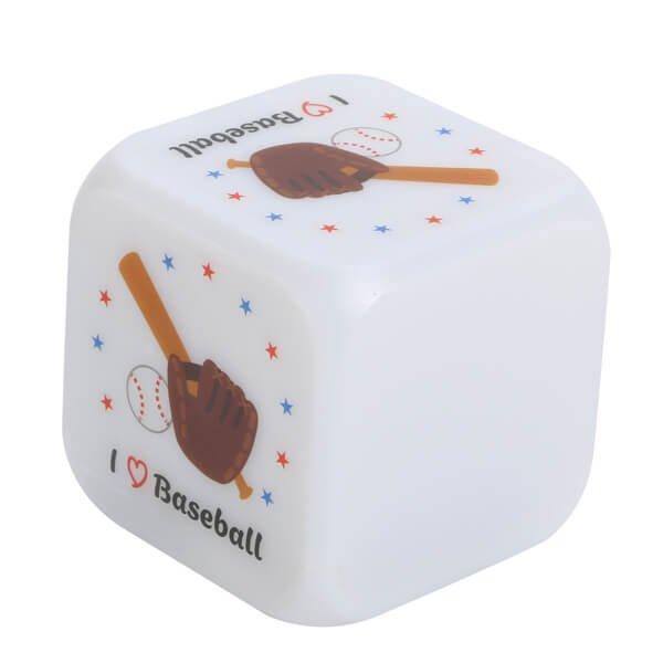 イルミネーション置き時計 ポップな野球柄 (スヌーズ機能付き)【画像3】