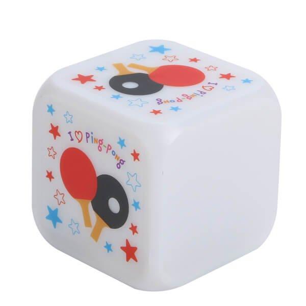 イルミネーション置き時計 ポップな卓球柄 (スヌーズ機能付き)【画像2】