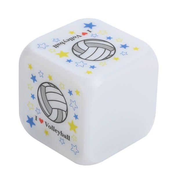 イルミネーション置き時計 ポップなバレーボール柄 (スヌーズ機能付き)【画像2】