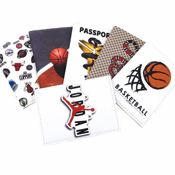 パスポートも入るマルチカードケース バスケットボール柄【画像6】