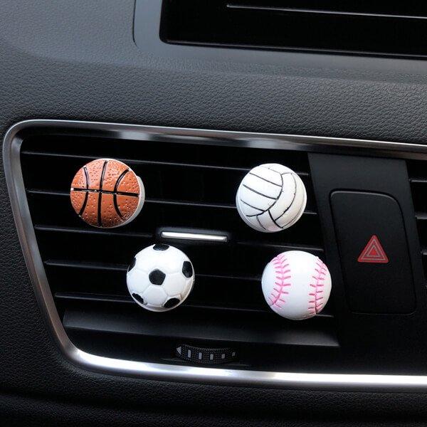 車用芳香消臭ボール バスケットボールタイプ【画像3】