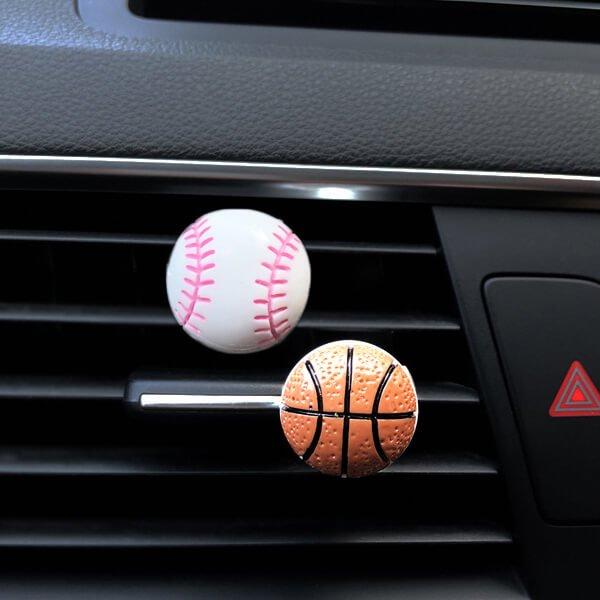 車用芳香消臭ボール バスケットボールタイプ【画像5】