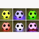 サッカー人気アイテム  (ワケあり)サッカーボール型LEDライト キレイに色が変化! 1個