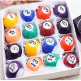 売れ筋アイテム(ボールグッズ)  ボール・グッズビリヤード球キーホルダー16個フルコンプ