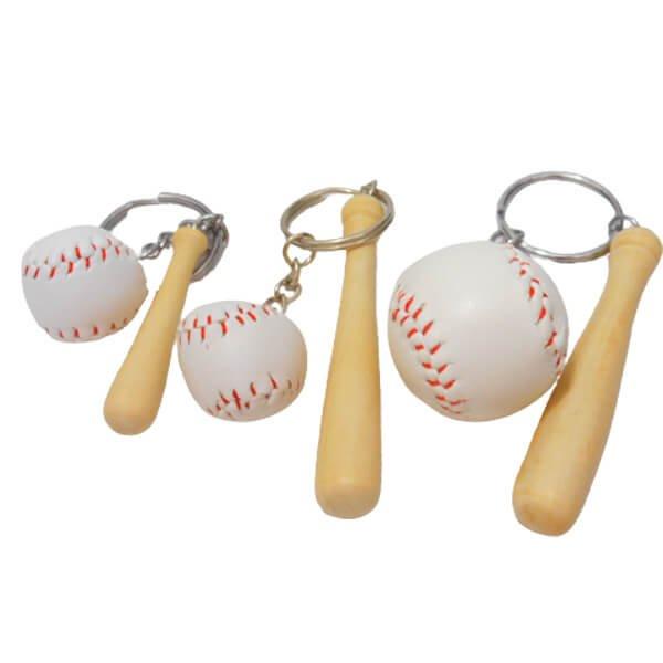 人気の野球キーホルダー バットとボール【画像3】