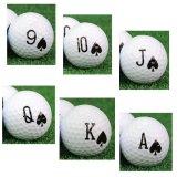 ロイヤルストレートフラッシュのゴルフボール(スペードの9含む6個セット)