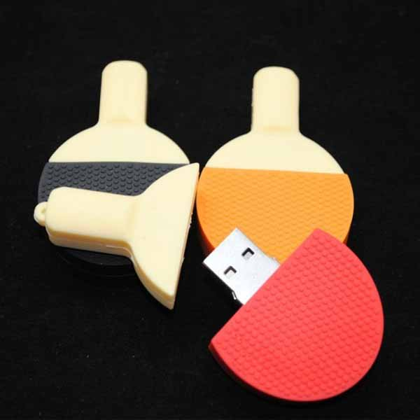 おもしろUSBメモリ かわいい卓球ラケット 1個【画像2】