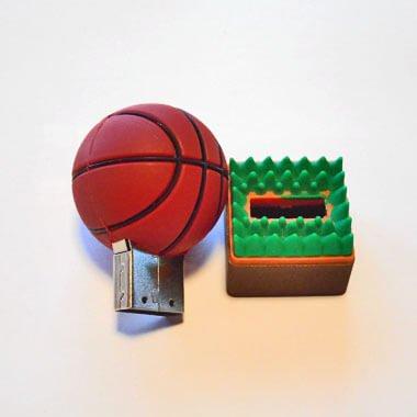 かわいいUSBメモリ  バスケットボール型 地面が芝【画像3】