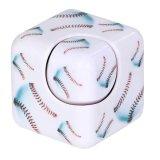 野球ボール柄入りフィジェットキューブ キューブ型ハンドスピナー
