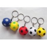 アクセサリーグッズ(ボール雑貨)  やわらかいサッカーボールキーホルダー(小)