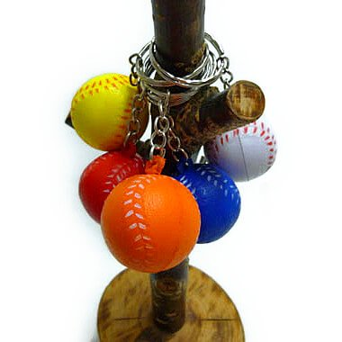 セットがお得! やわらかい野球ボールキーホルダー(小)  単価 47円〜【画像2】