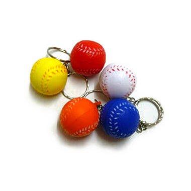 セットがお得! やわらかい野球ボールキーホルダー(小)  単価 47円〜【画像3】