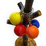 やわらかい野球ボールキーホルダー(小)