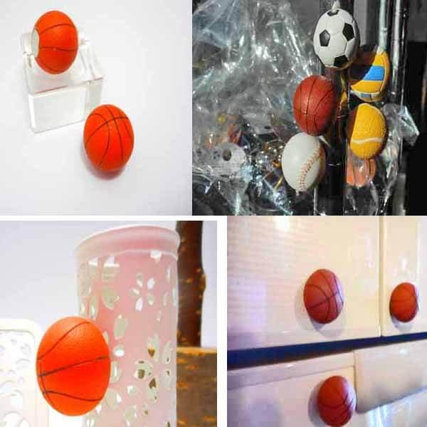 可愛いバスケットボール型のマグネット 1個【画像5】