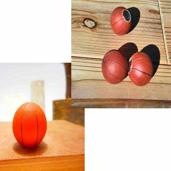 可愛いバスケットボール型のマグネット 1個【画像6】