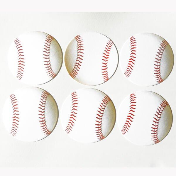 野球ボール型紙コースター