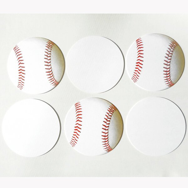 セットでお得! 野球ボール型の紙コースター 単価35円〜【画像2】