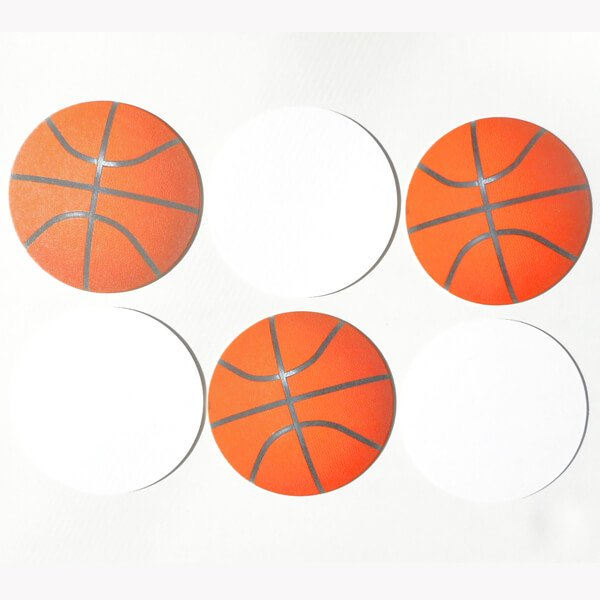 バスケットボール型紙コースター【画像4】
