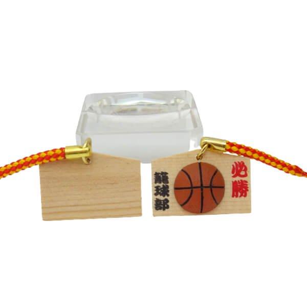 バスケットボール付根付ストラップ 木製絵馬(必勝!)【画像4】