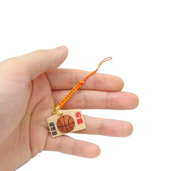 バスケットボール付根付ストラップ 木製絵馬(必勝!)【画像7】