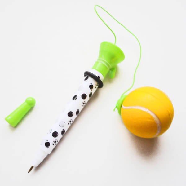 真空テニスボールペン(ボールを飛ばして遊べるボールペン)