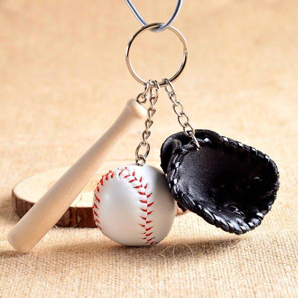 野球よくばりキーホルダー(薄茶色のグローブ)【画像2】