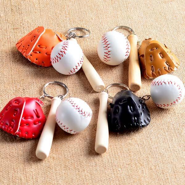 野球よくばりキーホルダー(薄茶色のグローブ)【画像3】