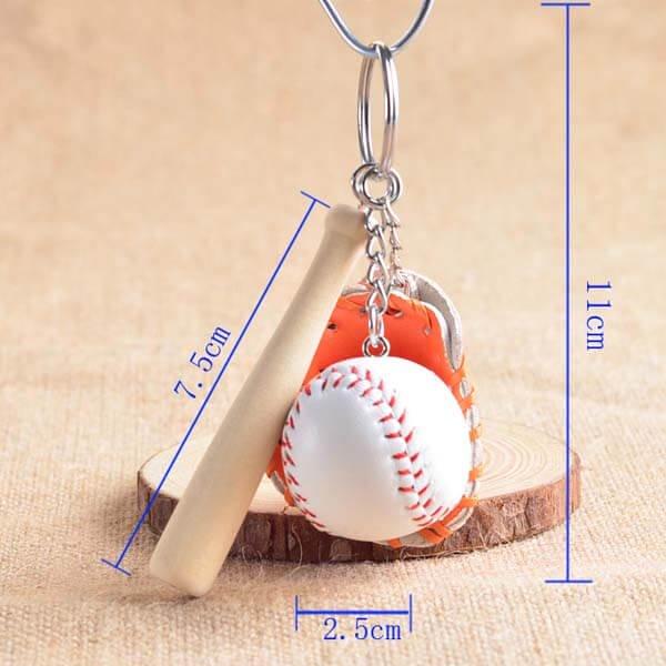 野球よくばりキーホルダー(バット、グローブ、ボール)【画像5】