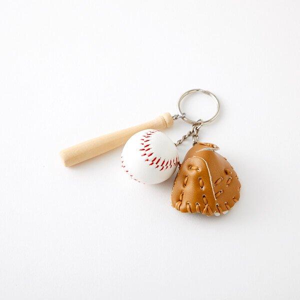 野球よくばりキーホルダー(バット、グローブ、ボール)【画像6】