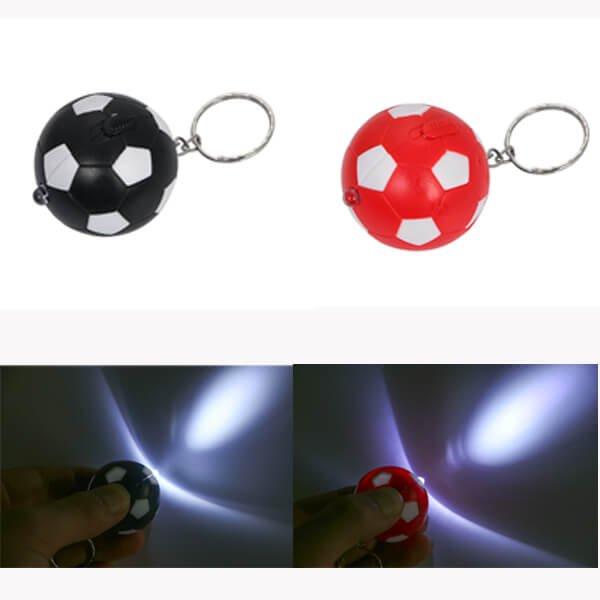 サッカーボール型  LEDライトキーホルダー  1個【画像2】
