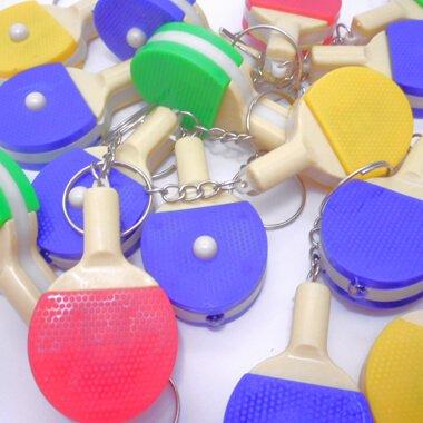 LEDライトキーホルダー 卓球ラケット型