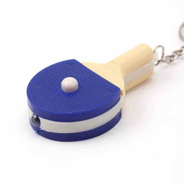 LEDライトキーホルダー 卓球ラケット型【画像2】