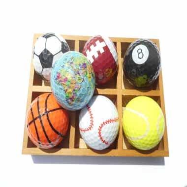 ラグビーボール型ゴルフボール 1個【画像4】