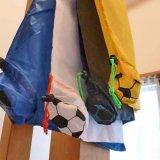 サッカーボール柄 折り畳み買い物袋(無地)