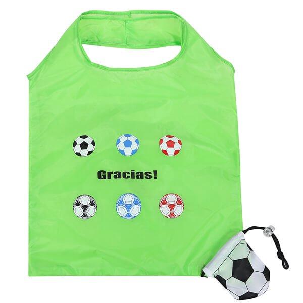 オリジナルサッカーボール柄の折り畳みエコバッグ【画像3】