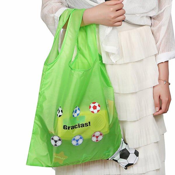 オリジナルサッカーボール柄の折り畳みエコバッグ【画像6】