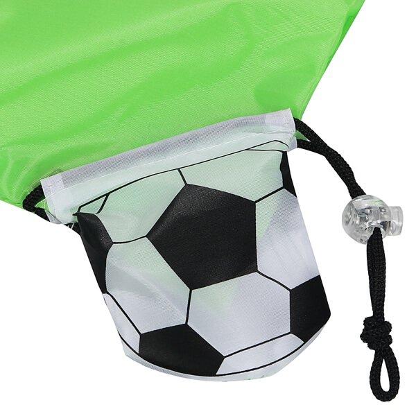 オリジナルサッカーボール柄の折り畳みエコバッグ【画像7】