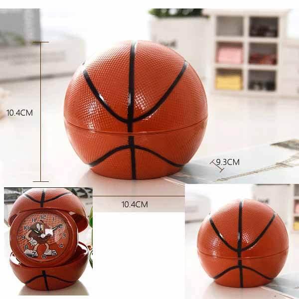 フォトフレーム付目覚まし時計 バスケットボールタイプ【画像4】