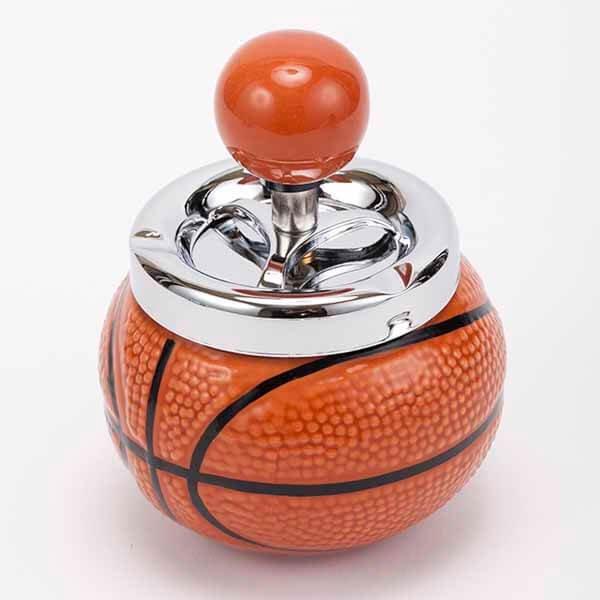 バスケットボール型の灰皿 (蓋あり)