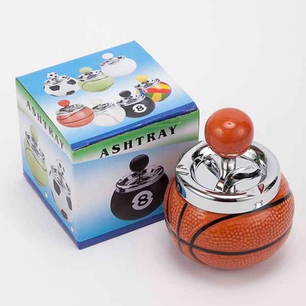 バスケットボール型の灰皿 (蓋あり)【画像2】