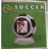サッカーボール型 電子フォトフレーム(時計機能付)