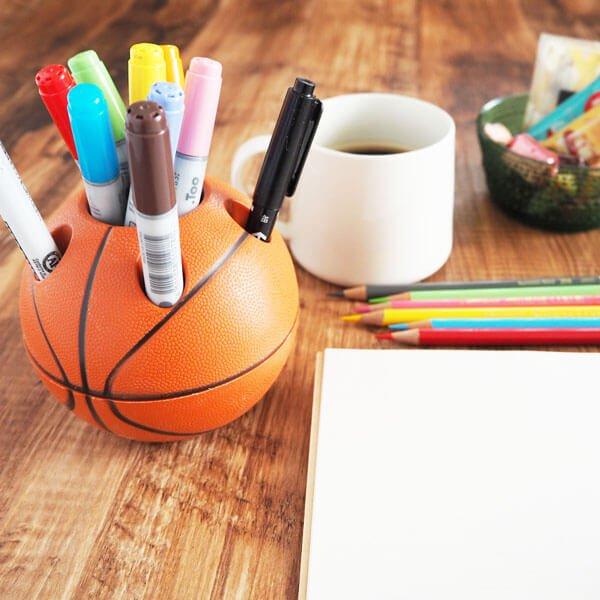 【アイテムキューブ】事務・文具・ビジネス用品 > 文具 | バスケットボール型 ペン立て