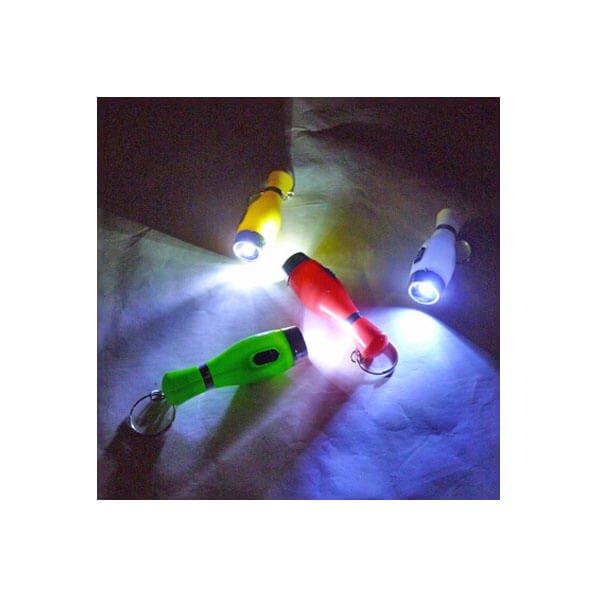 ボウリングのピン型 LEDライトキーホルダー【画像3】