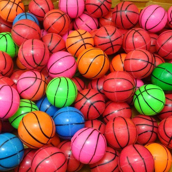 バスケットボール型 カラフルスーパーボール